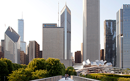 View from Chicago's Millennium Park