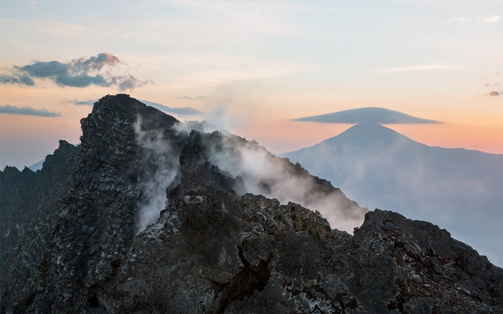 Sunrise on Mount Nyiragongo