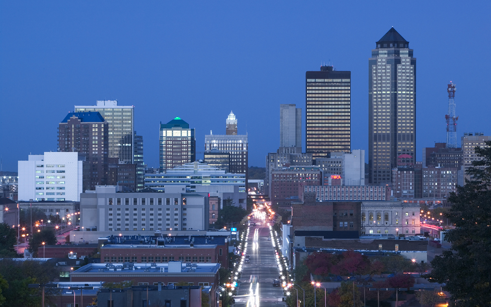 Skyline of Des Moines, Iowa, USA