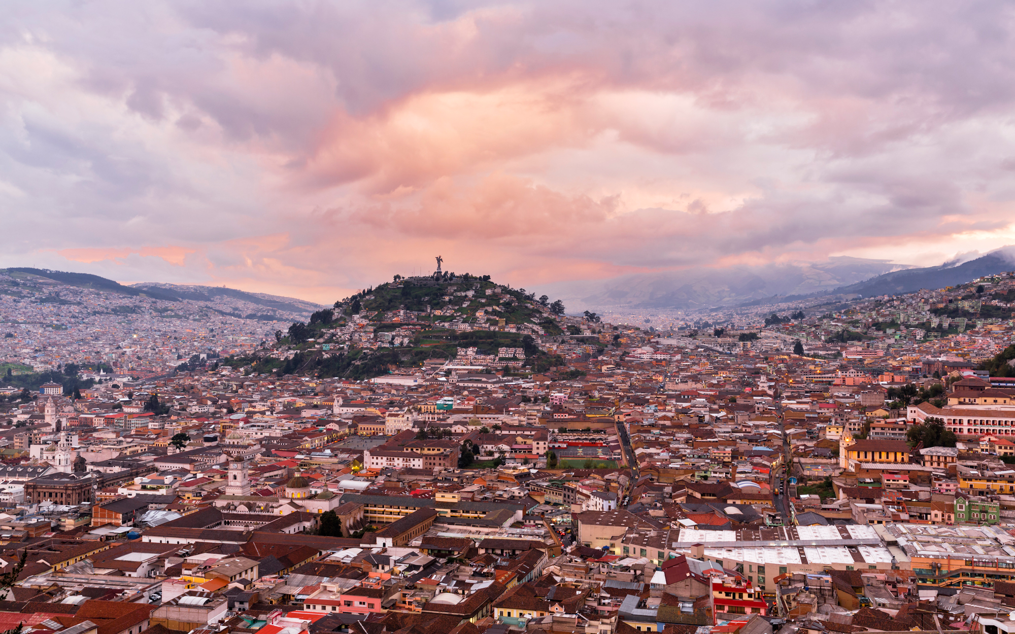 View of El Panecillo, Quito, Ecuador