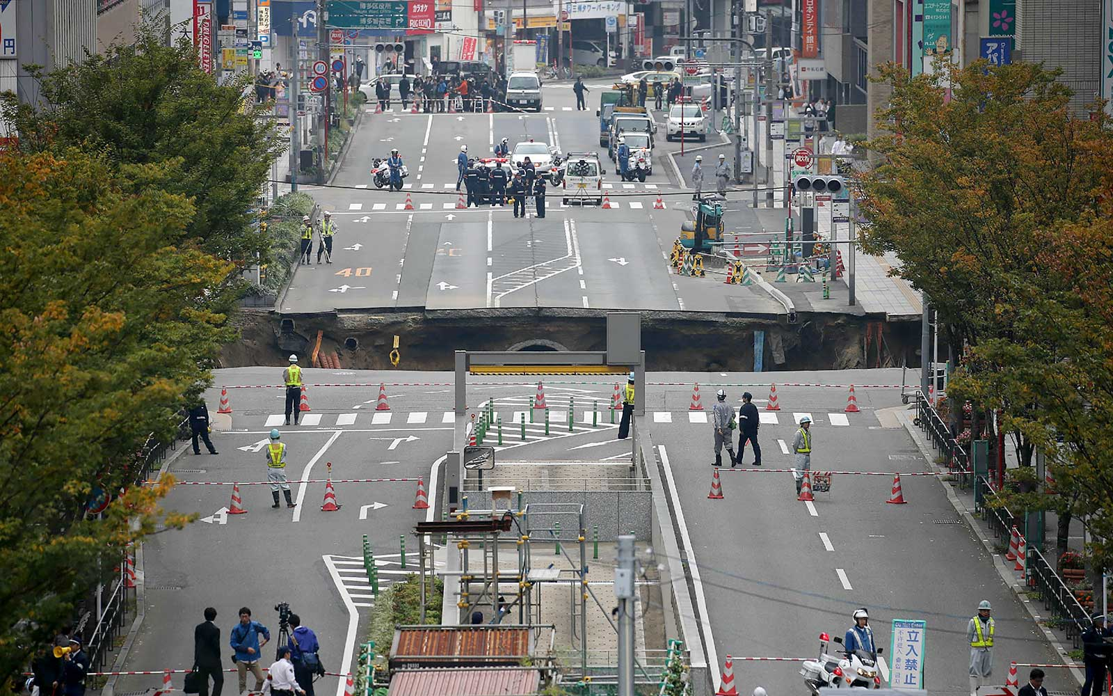 That 'Unprecedented' Sinkhole in Japan? It's Already Fixed