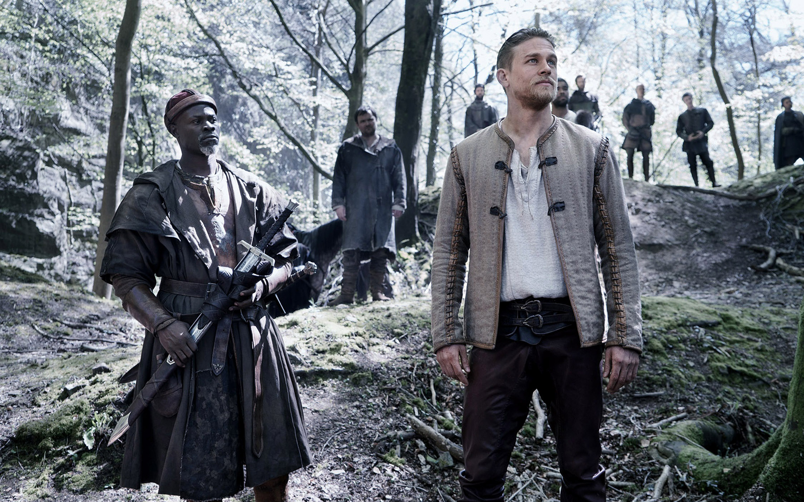 """King Arthur: Legend of the Sword"" stars Charlie Hunnam, Jude Law, Astrid Berges-Frisbey, and Djimon Hounsou."