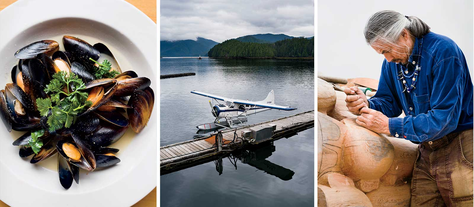 Food, Planes, and Carvings in British Columbia