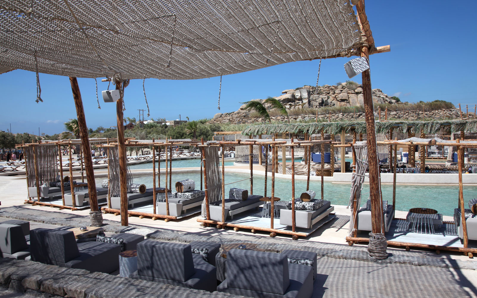 New Mykonos Day Club Opens Europe's Biggest Beachfront Pool