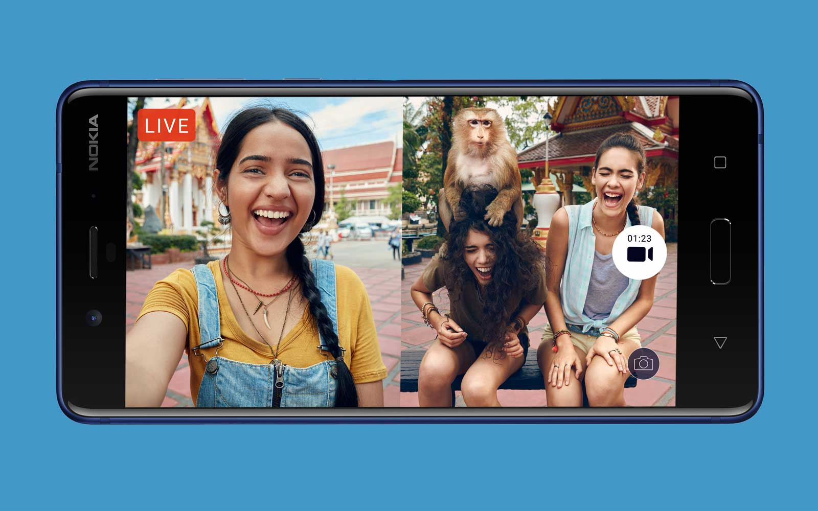 Nokia 8 'Bothie' Camera Lets You Take Selfies and Scenery Shots at the Same Time