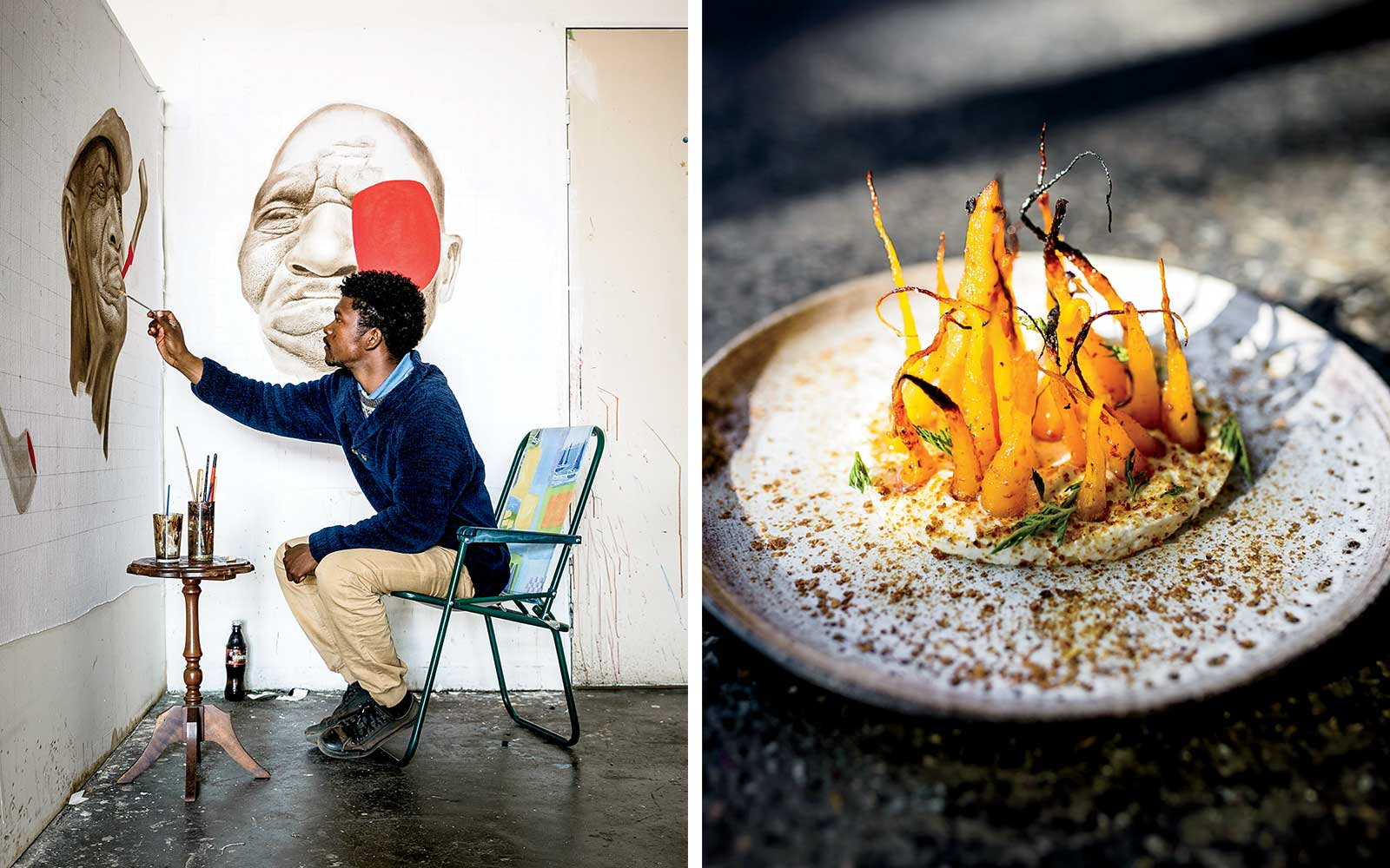 Artist Victor Kuster in Johannesburg; South African food at Urbanologi