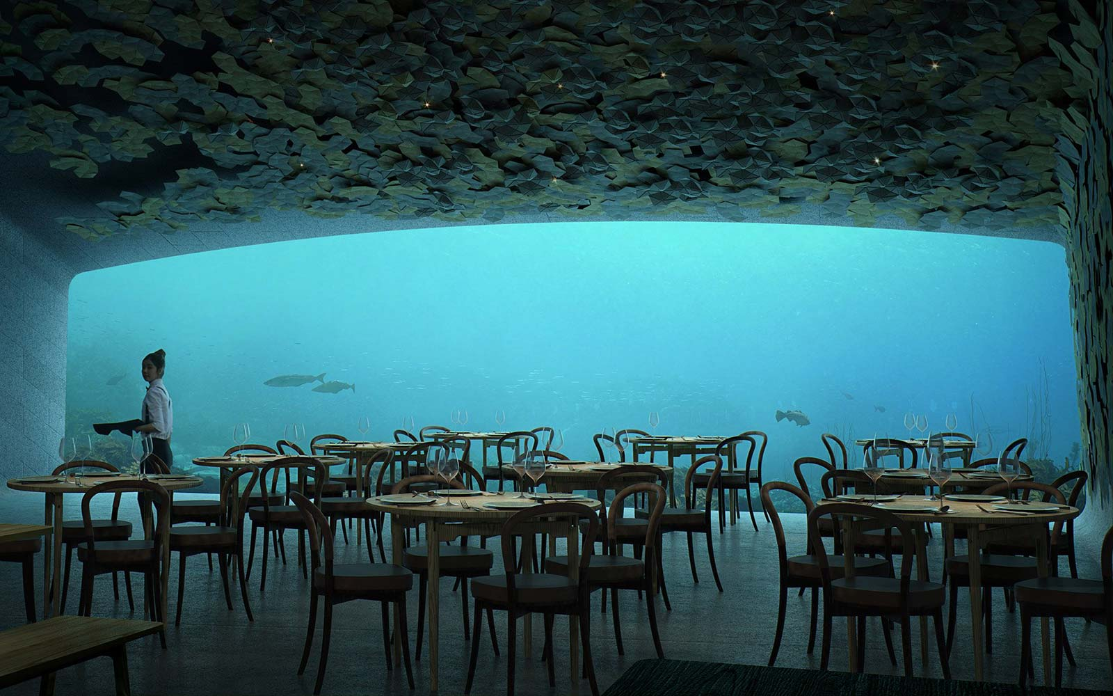 Europe S First Underwater Restaurant Has A Champagne Bar