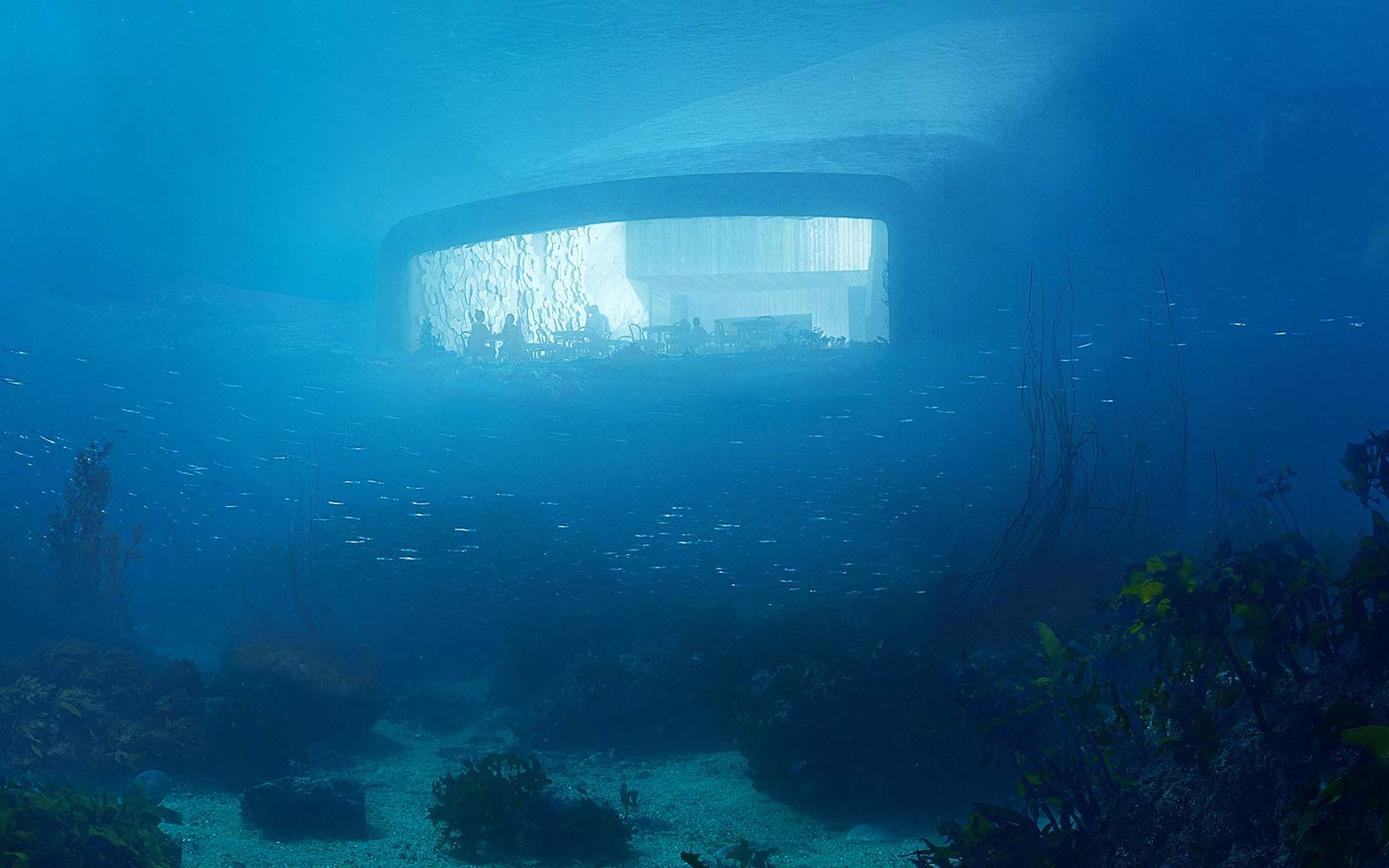Europe's First Underwater Restaurant Has a Champagne Bar and Looks Like a Whale