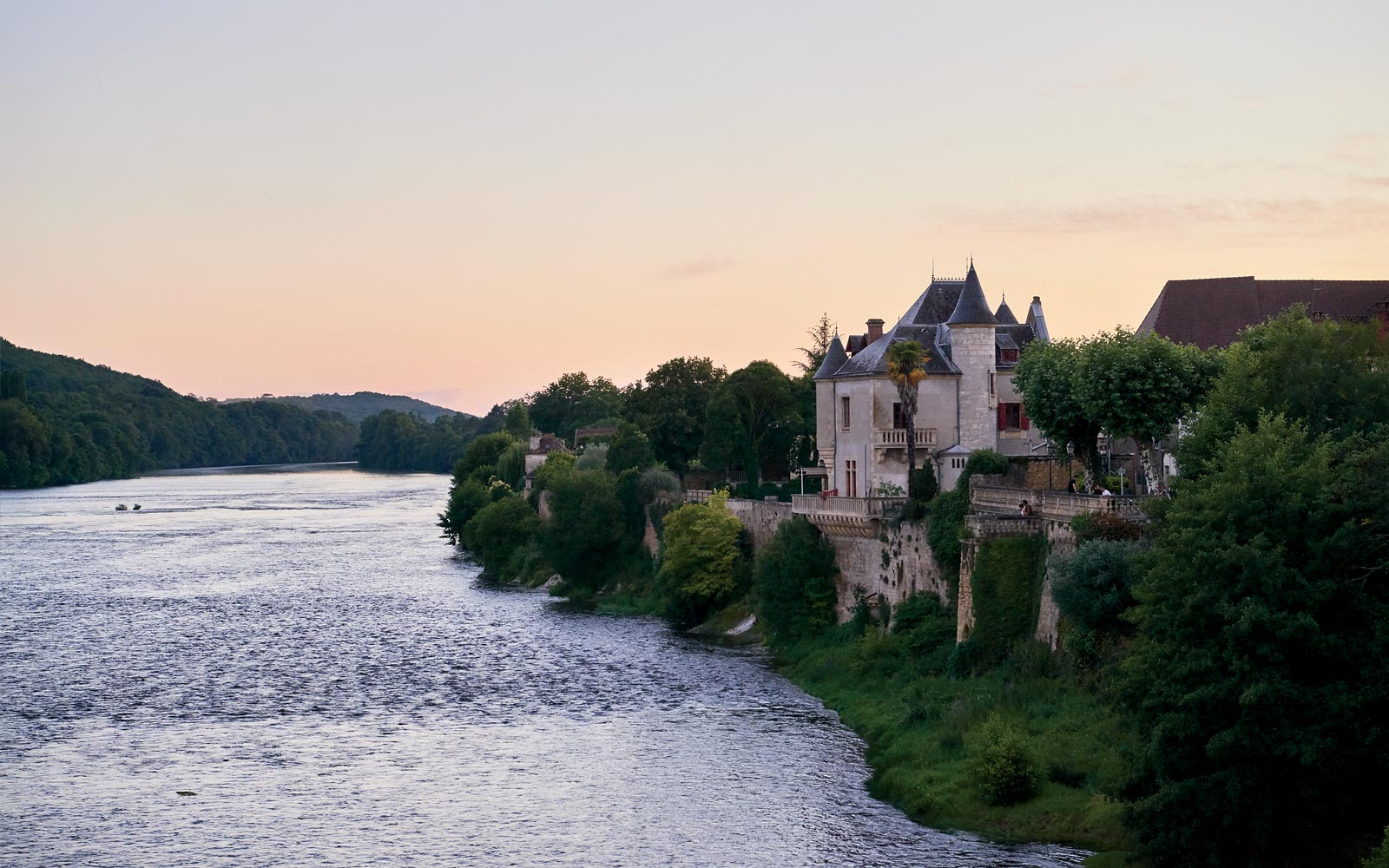 The Dordogne River at Chateau Lalinde