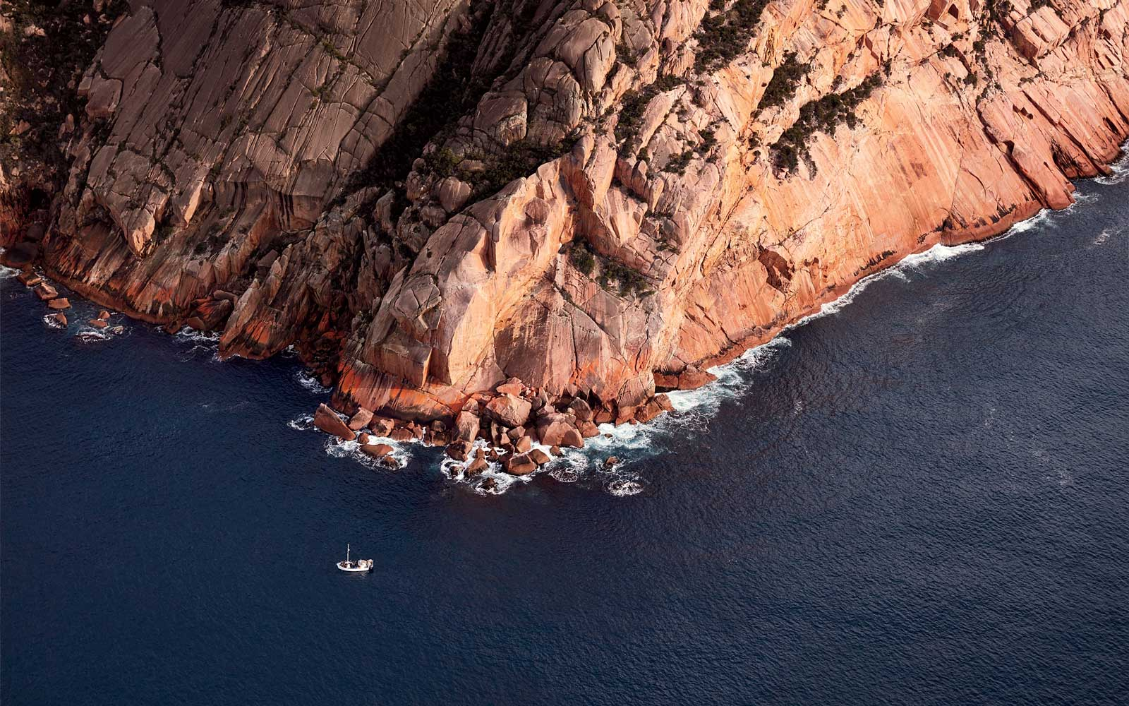 The Hazards in Freycinet National Park, as seen from the air