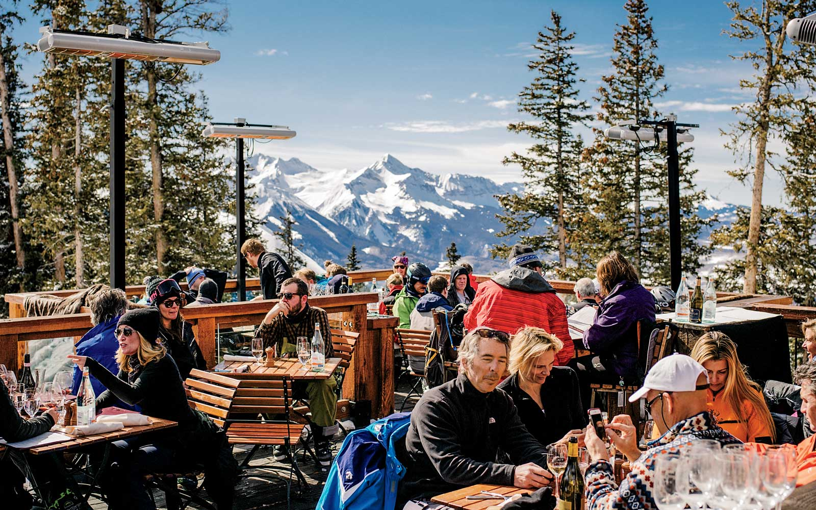 Apres ski dining at Alpino Vino, on Telluride Mountain