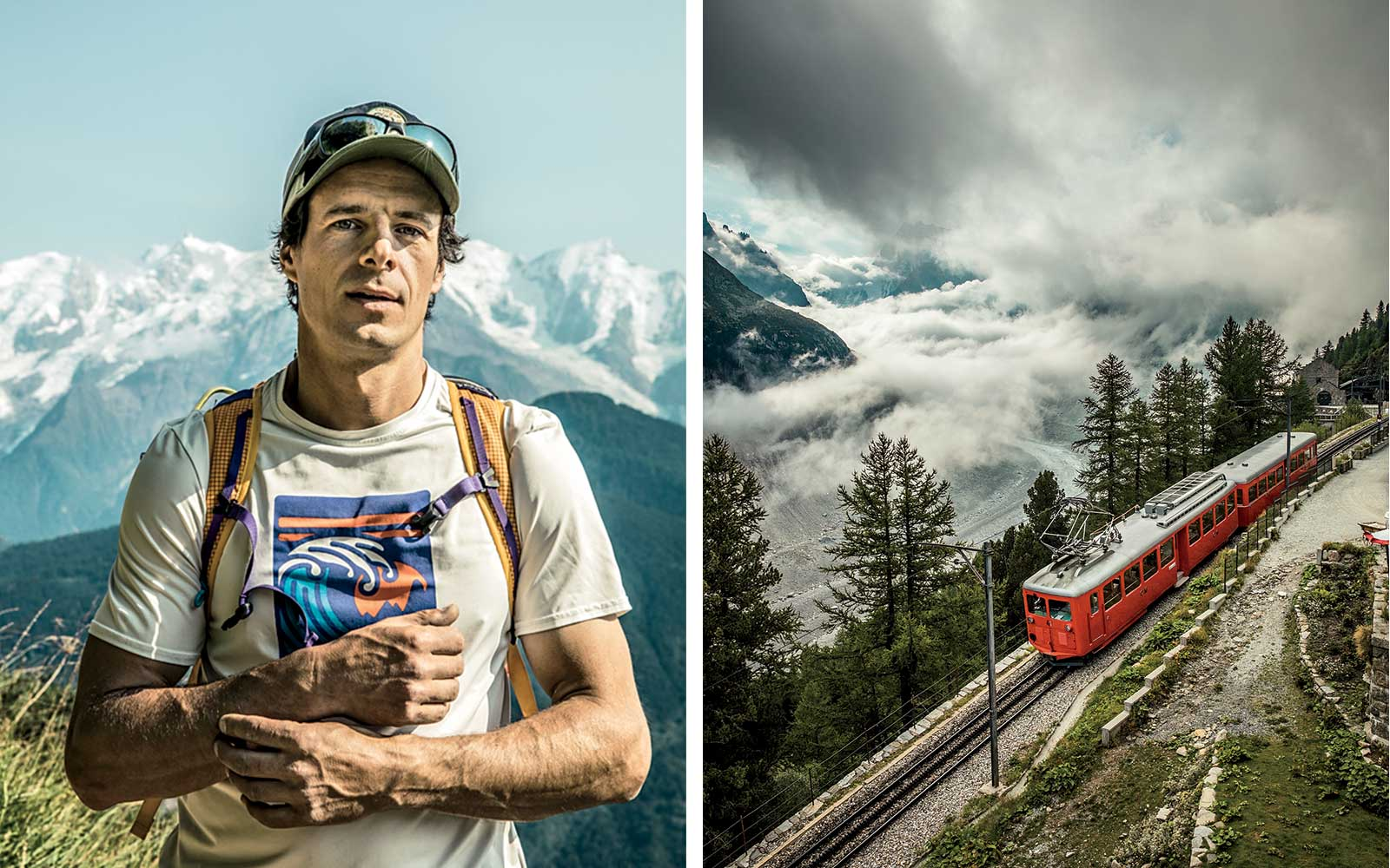 Mountain climbing guide in Chamonix; train to Mer de Glace