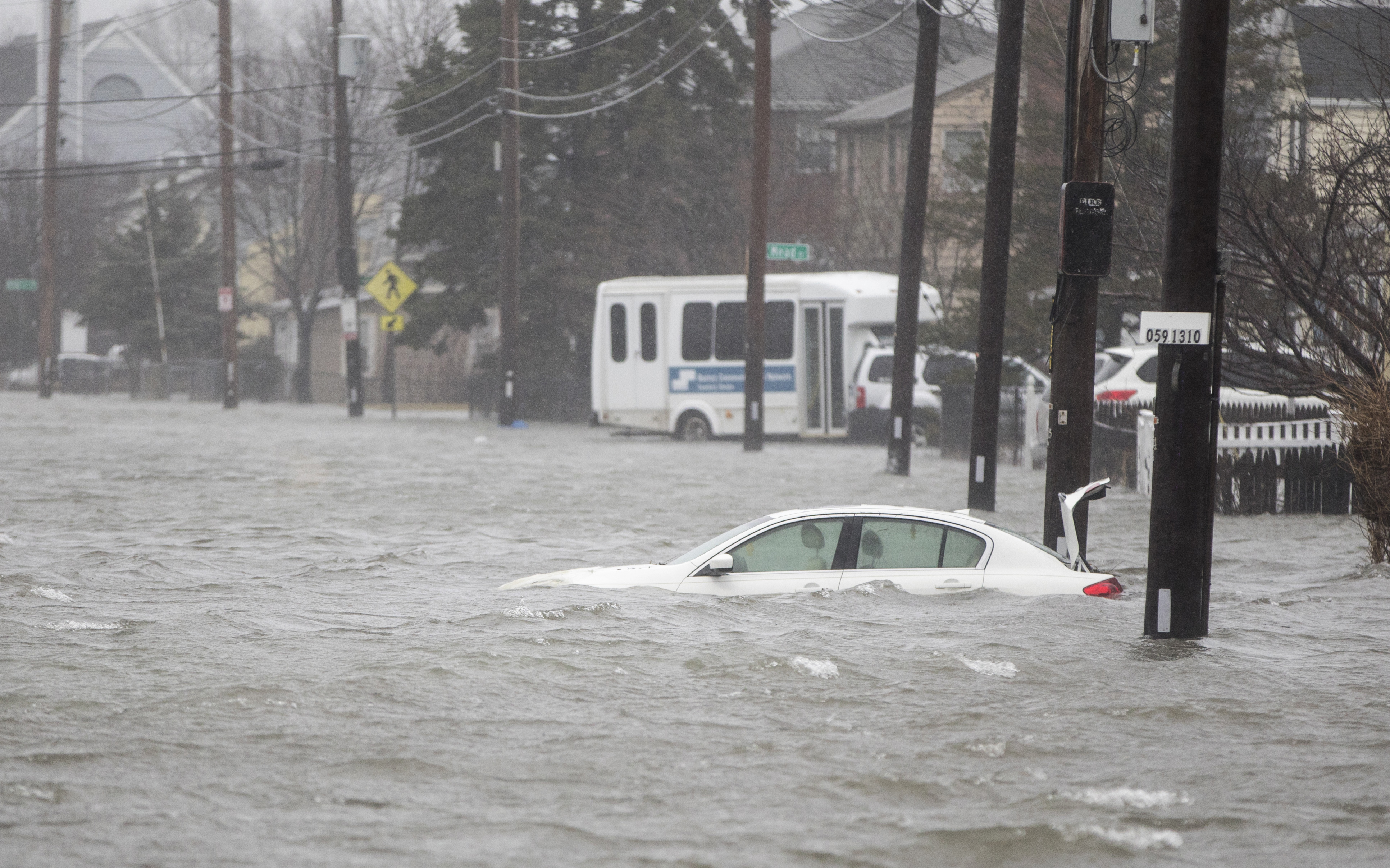car noreaster flood