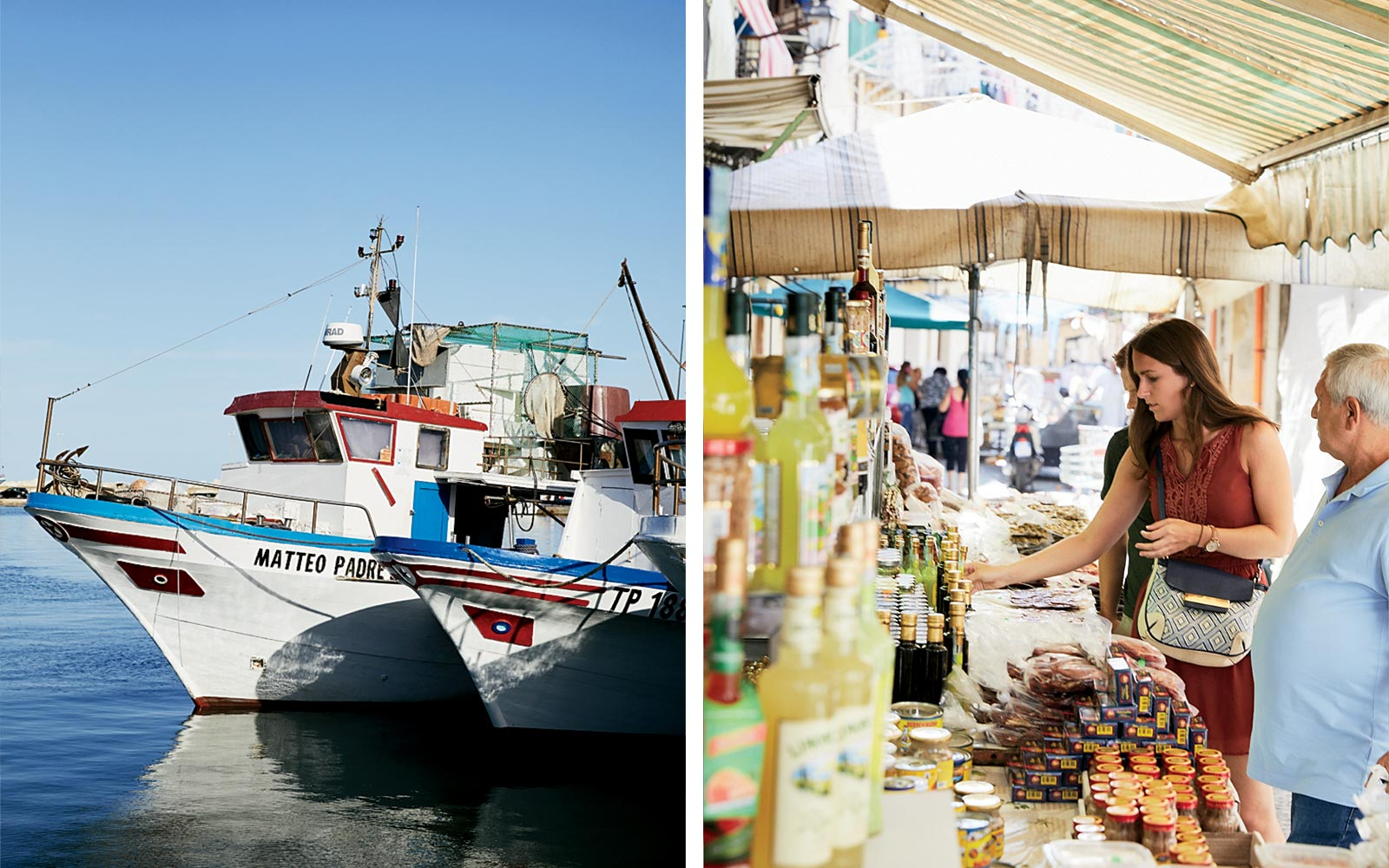 Boats and Markets in Sicily