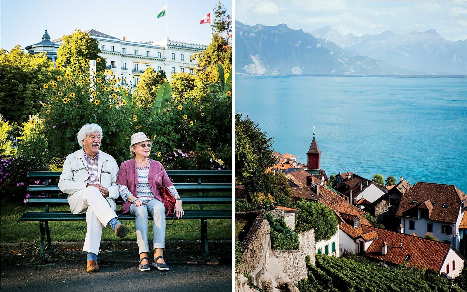 Scenes from Switzerland's wine region