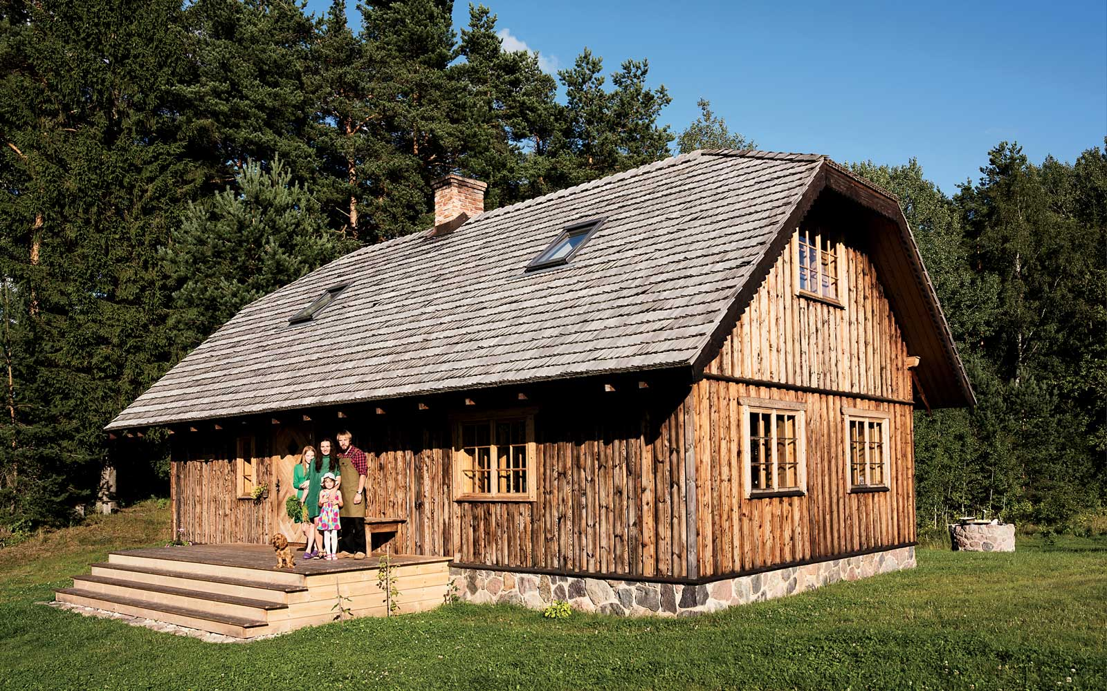 Jacob Dimiters and his family in the Latvian countryside