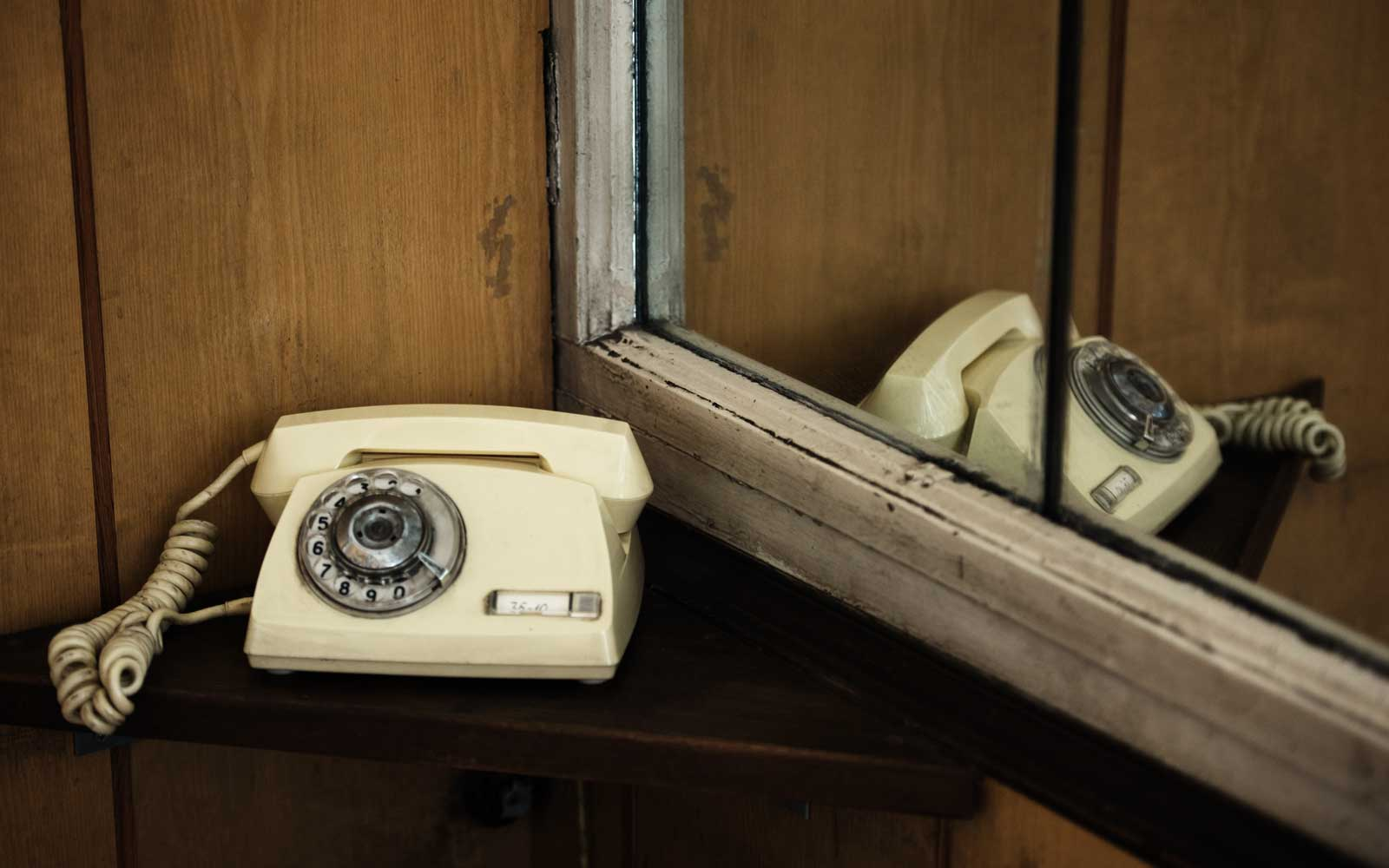 Old KGB telephone at the Corner House