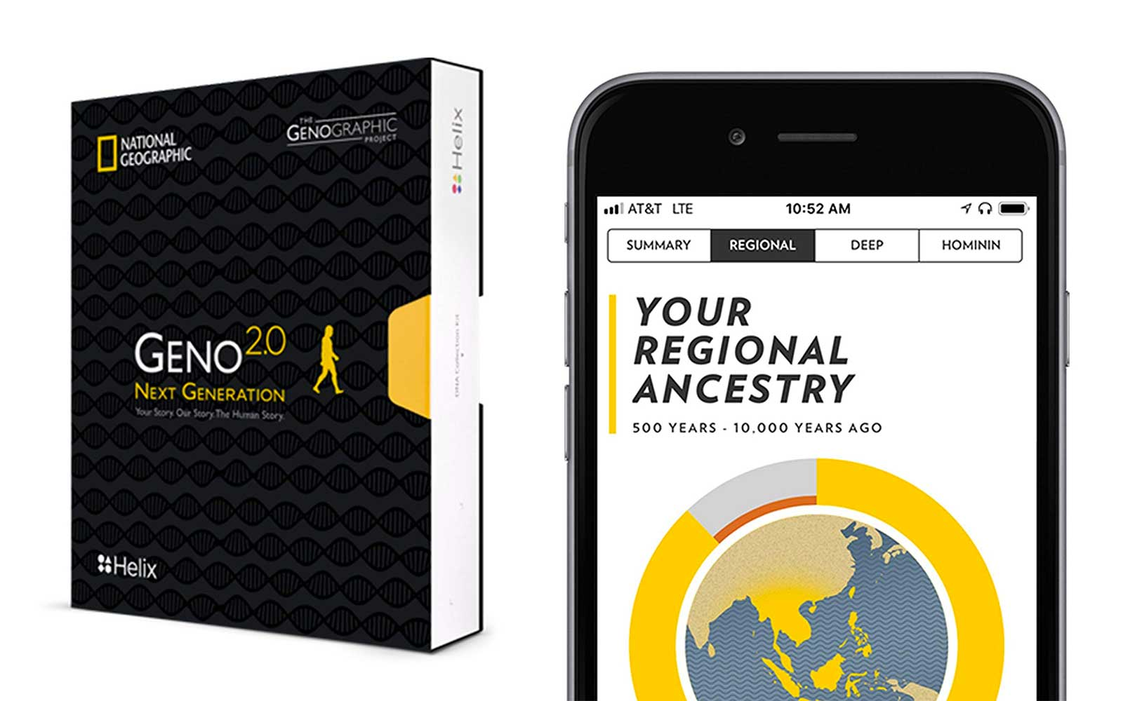 NatGeo DNA testing kit for sale on Amazon