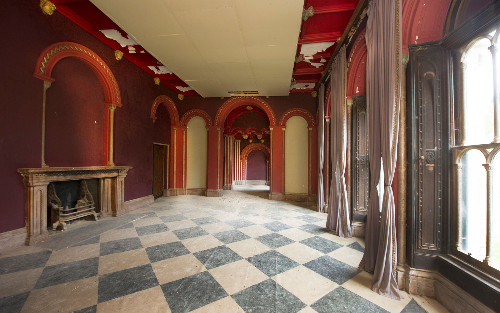 The interiors of Gosford Castle in Northern Ireland.