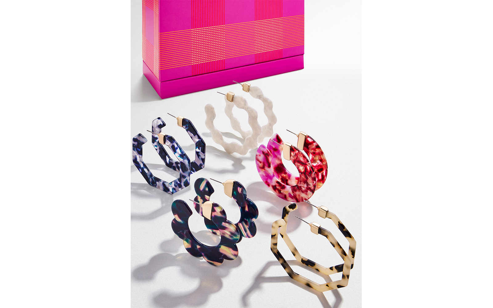 Baublebar Resin Hoop Earrings Holiday Gift Set
