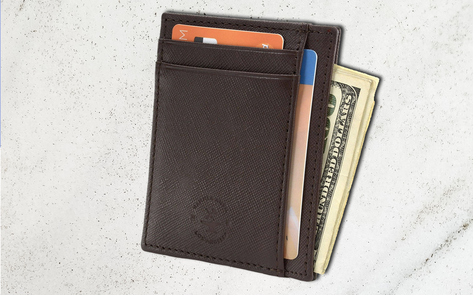 This Leather Wallet Has Over 2,000 Five-star Reviews on Amazon — and It's on Sale for $7 Right Now