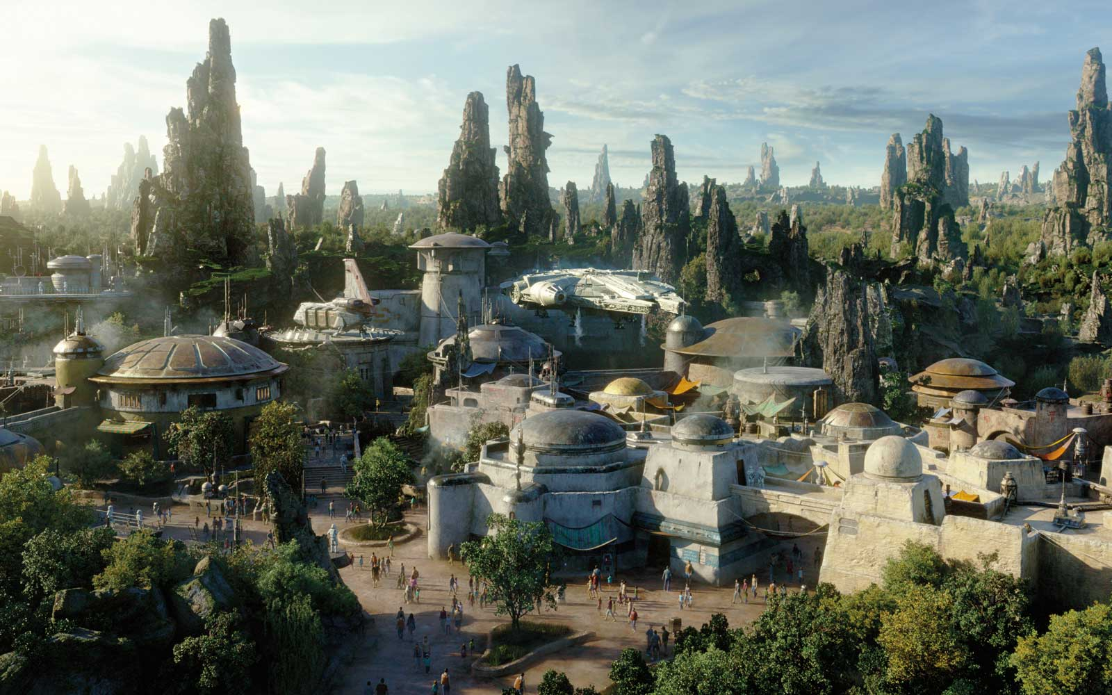 Aerial Photos Show Disney World's Star Wars Land Nearly Finished Ahead of Opening Day