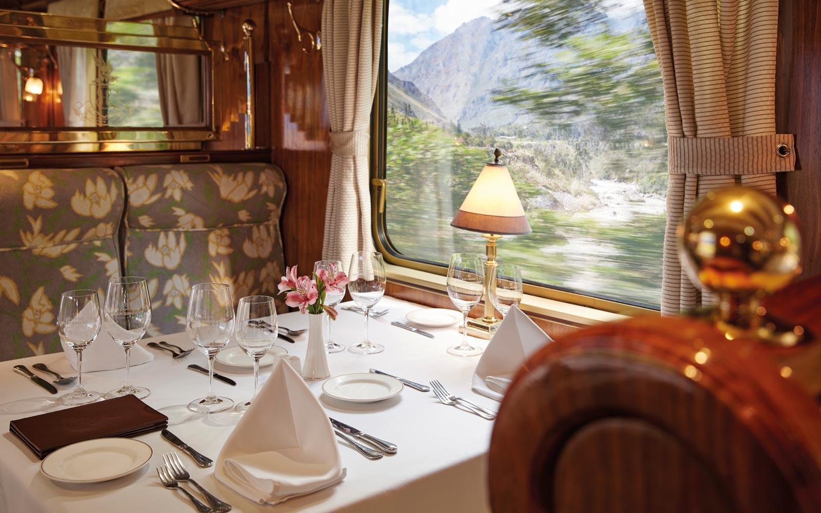 This luxury train to Machu Picchu winds through the Peruvian Highlands in style