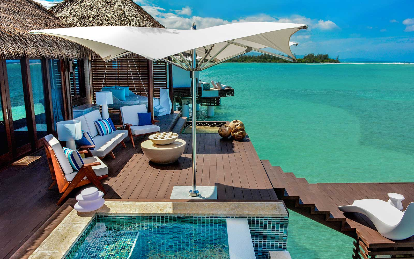 Fly to a beautiful overwater bungalow for only $279 round-trip