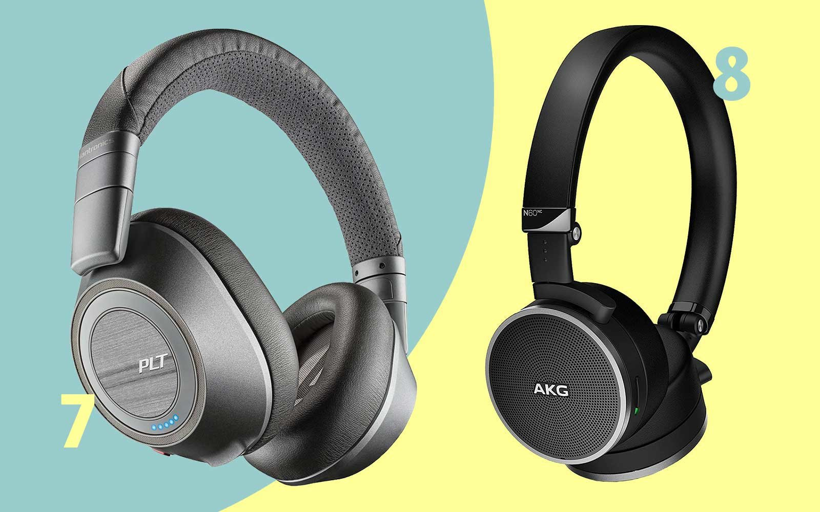 Noise-canceling headphones by AKG and Plantronics, under $200