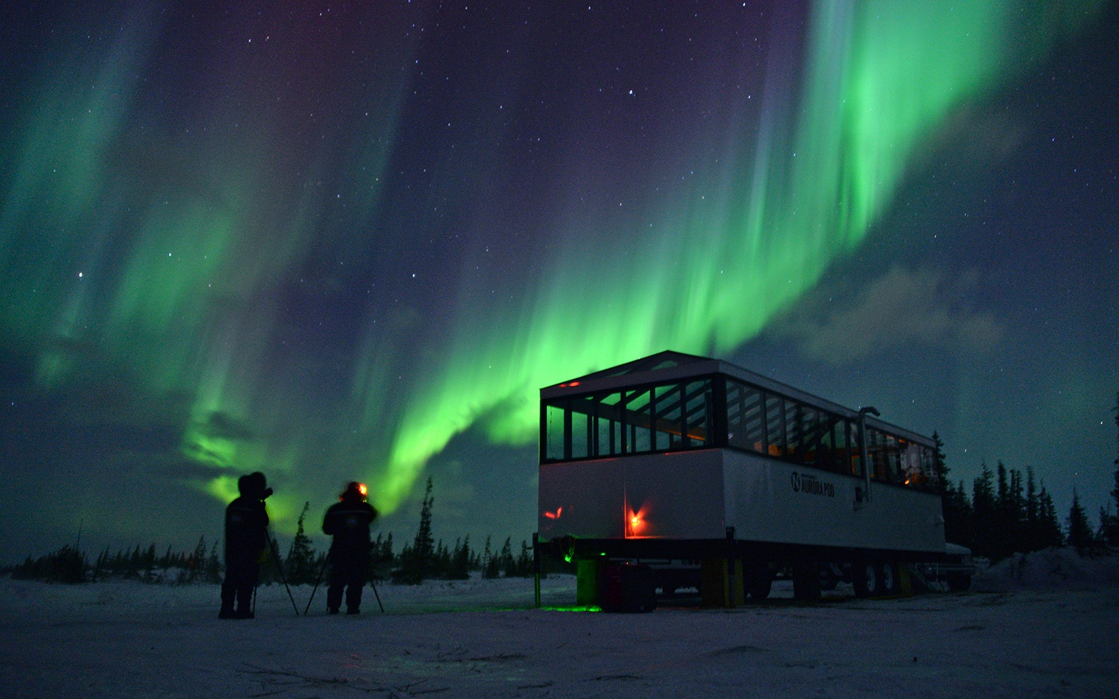 Manitoba S Aurora Pod Offer Amazing Views Of The Aurora