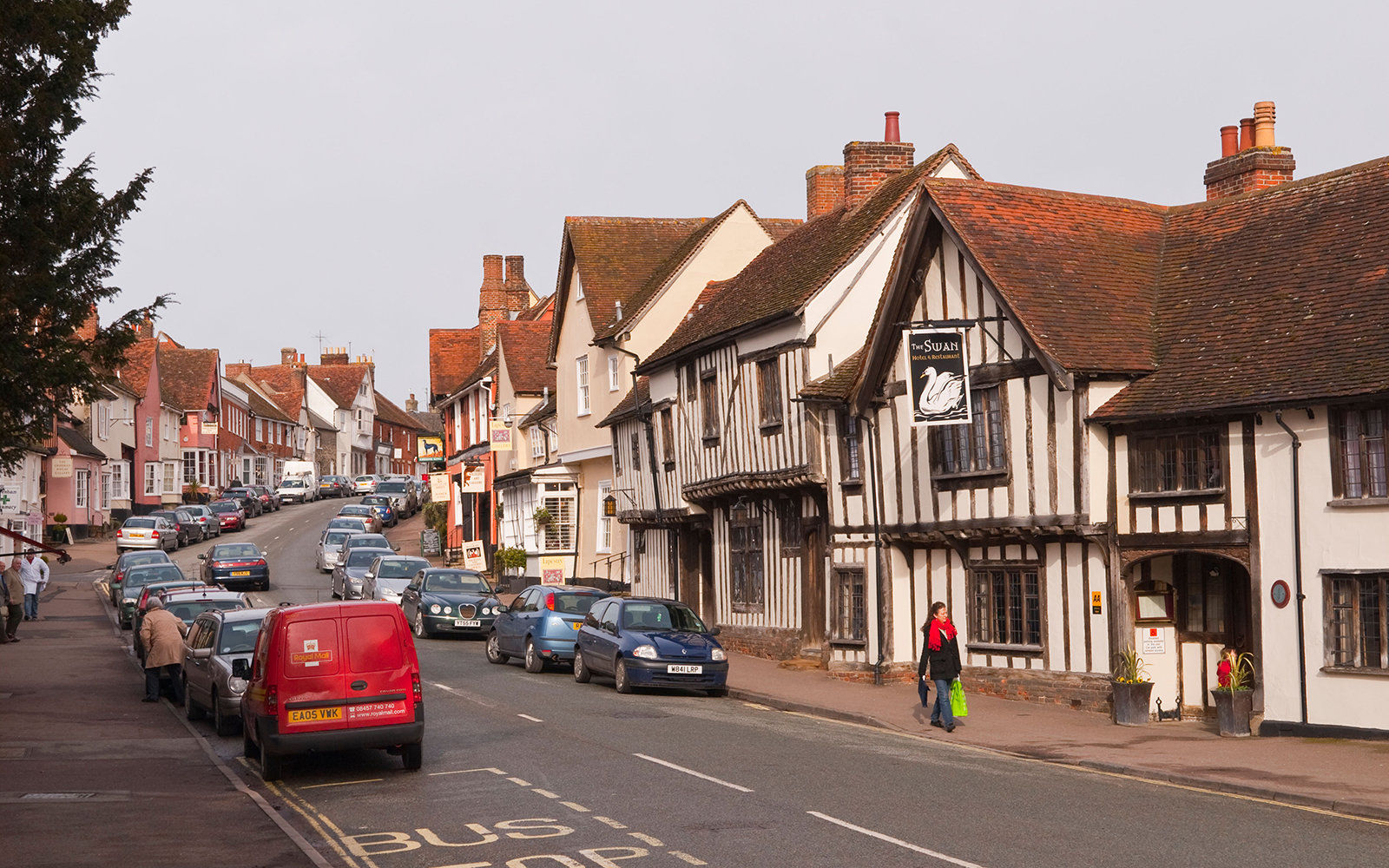 small European town in Lavenham, England