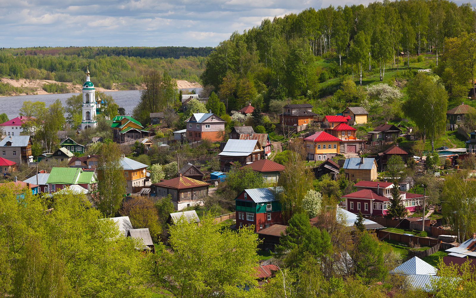 small European village in Viscri, Romania