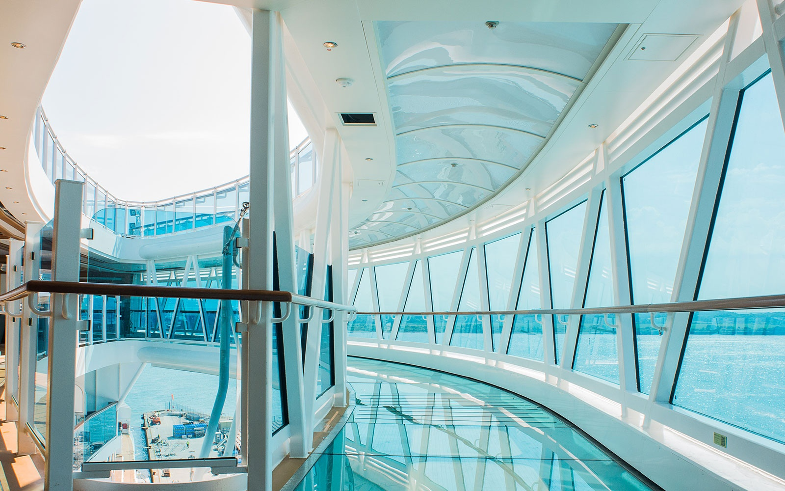 SkyWalk on Royal Princess and Regal Princess