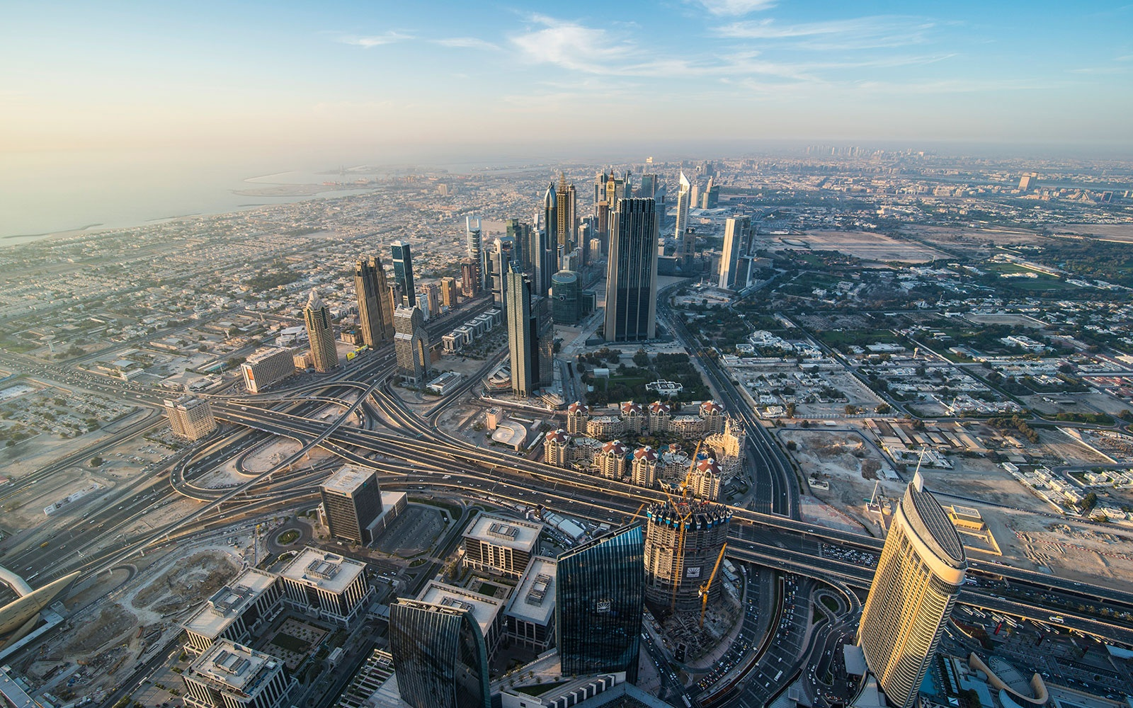 26 Apr 2014, Dubai, United Arab Emirates --- View from Burj Khalifa, Dubai, Emirate of Dubai, United Arab Emirates, Asia --- Image by © Michael Runkel/imageBROKER/Corbis