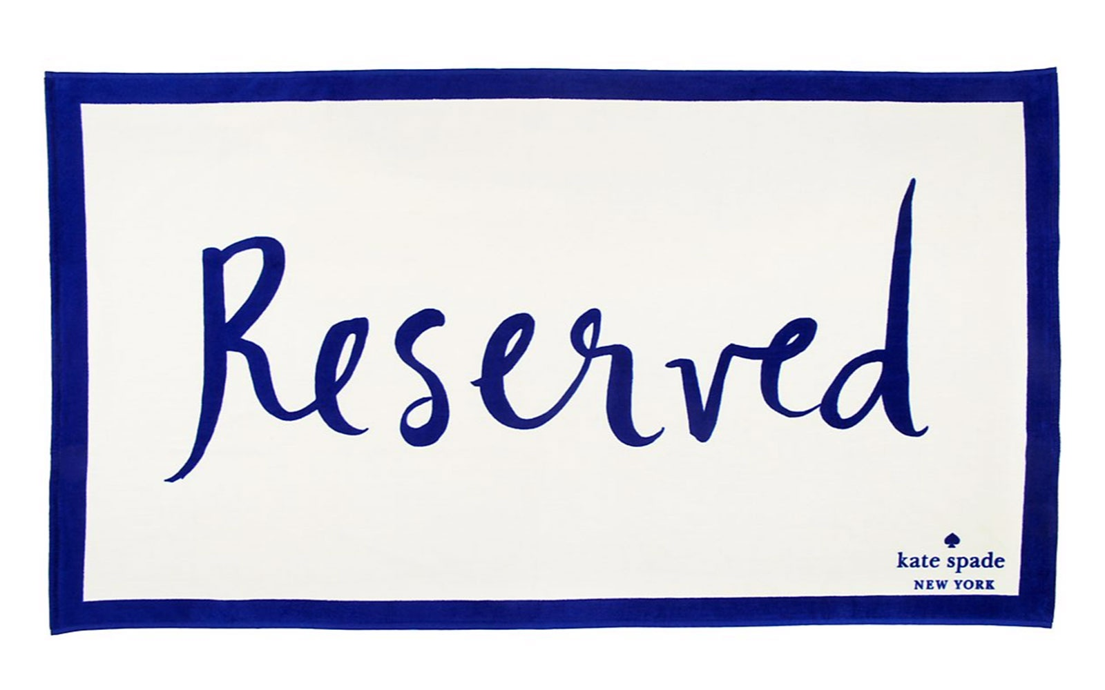 Kate Spade Reserved  beach towel, $128