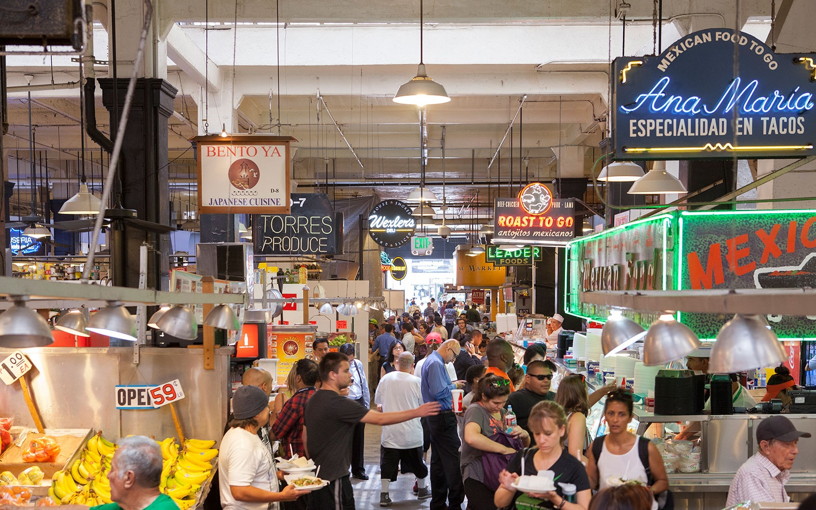 Best New Food Halls: Grand Central Market, Los Angeles