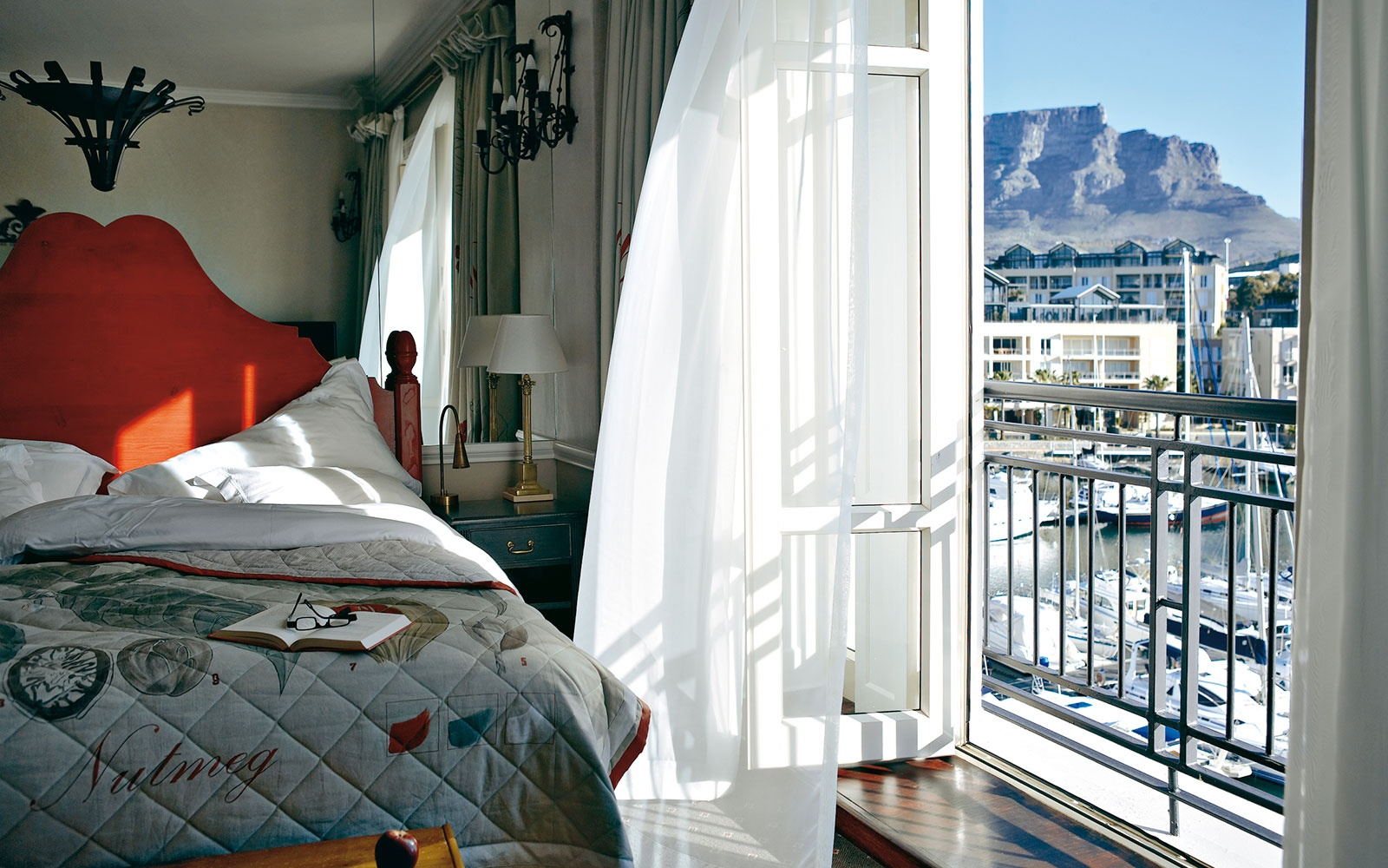 hotel room on the bay at Cape Grace, Cape Town, South Africa