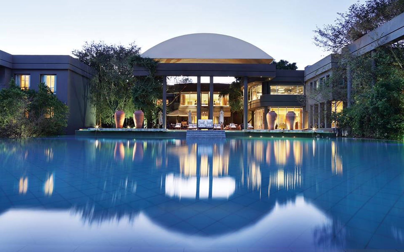 elegant pool at Saxon Hotel, Villas and Spa, Johannesburg, South Africa