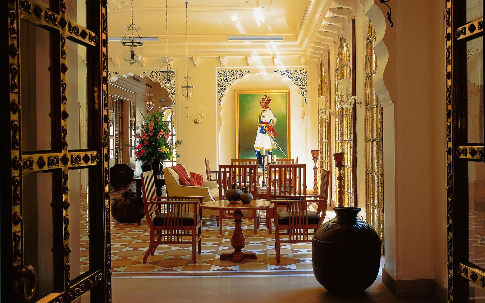 guest room at The Oberoi Rajvilas, Jaipur, Rajasthan, India