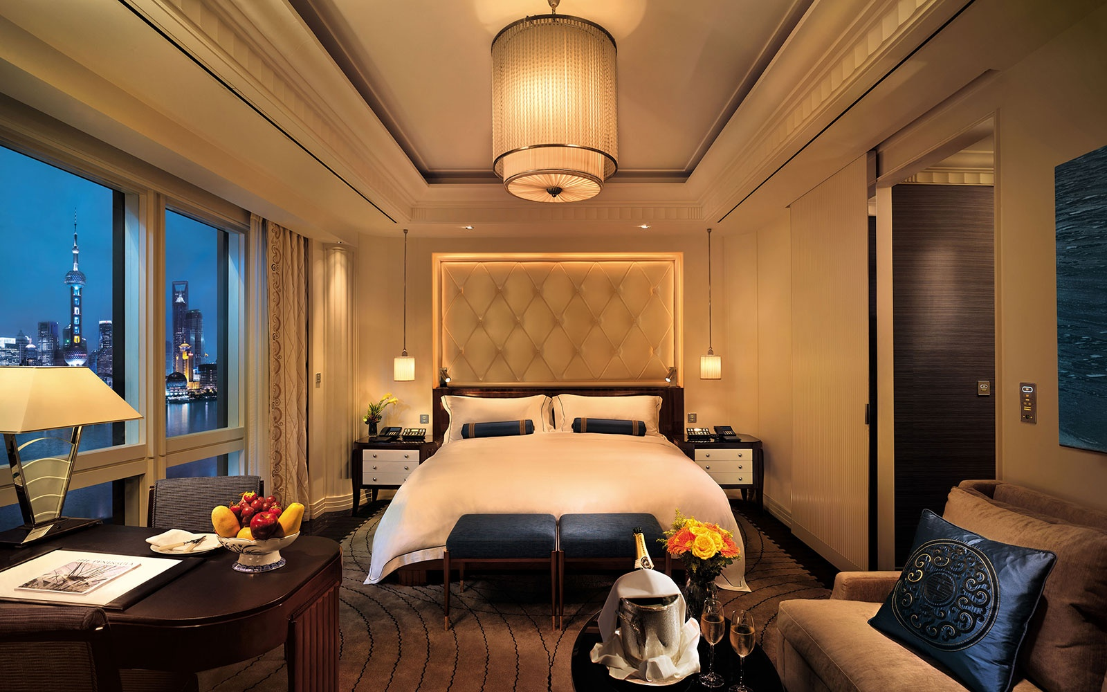 guest room at The Peninsula Shanghai, Shanghai, China