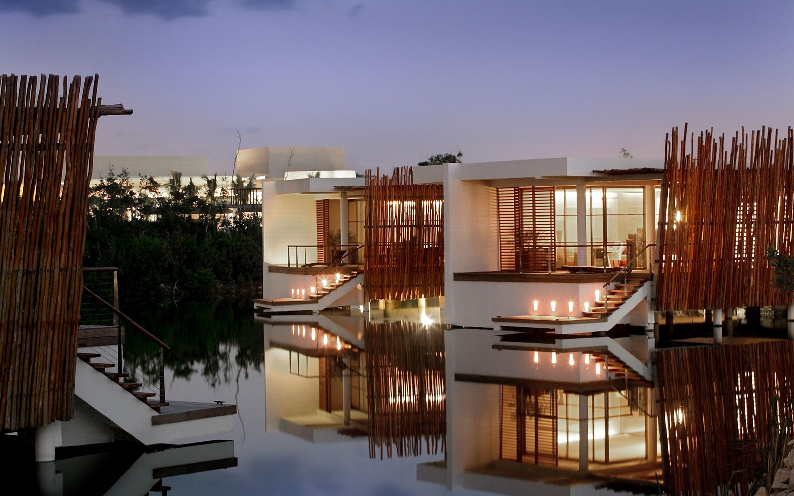 guest cottages on the water at Rosewood Mayakobá, Playa del Carmen, MX