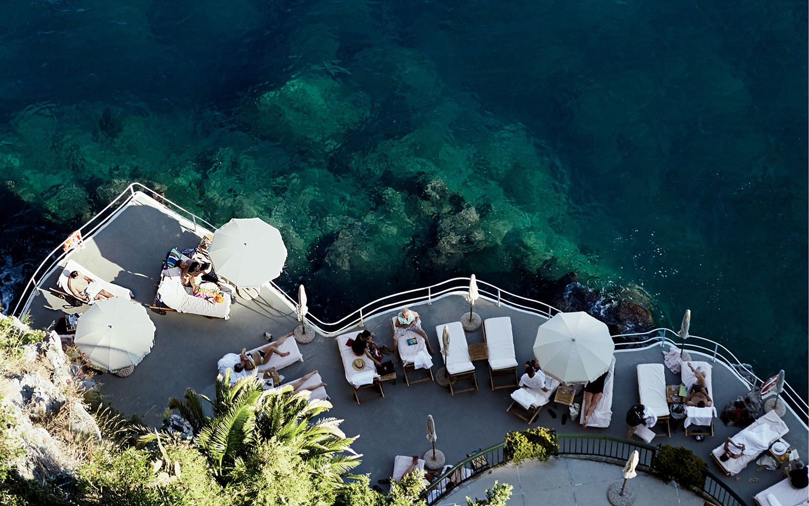 Hanging with the pool guys at Hotel Santa Caterina, Amalfi