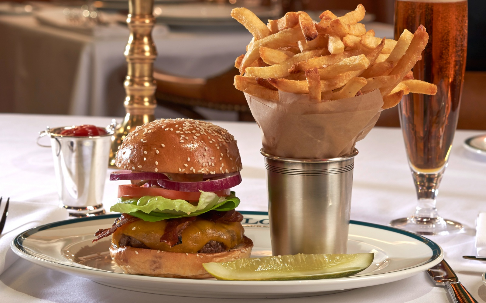 The Polo Bar Burger ($24) at The Polo Bar by Ralph Lauren