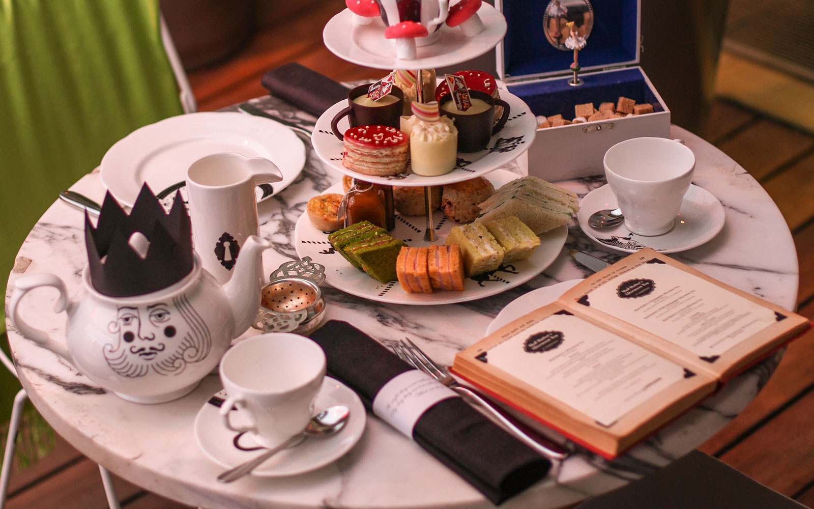 Mad Hatter's Afternoon Tea at the Sanderson Hotel