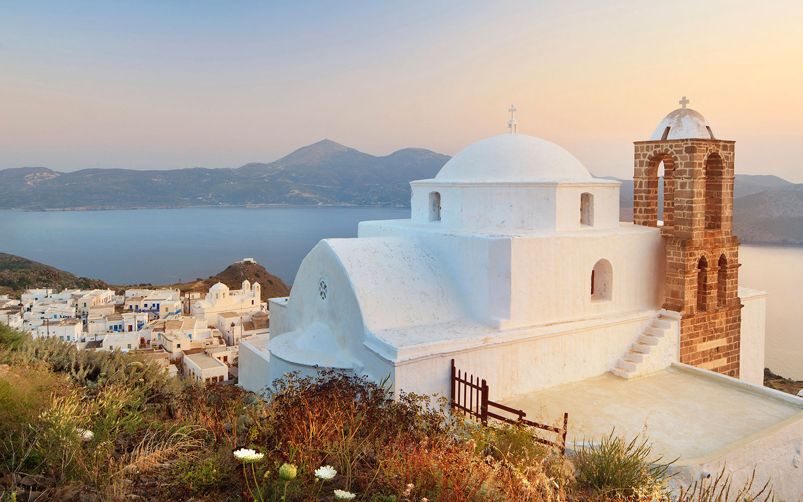Try: Naxos and Milos, Greece. Not: Santorini