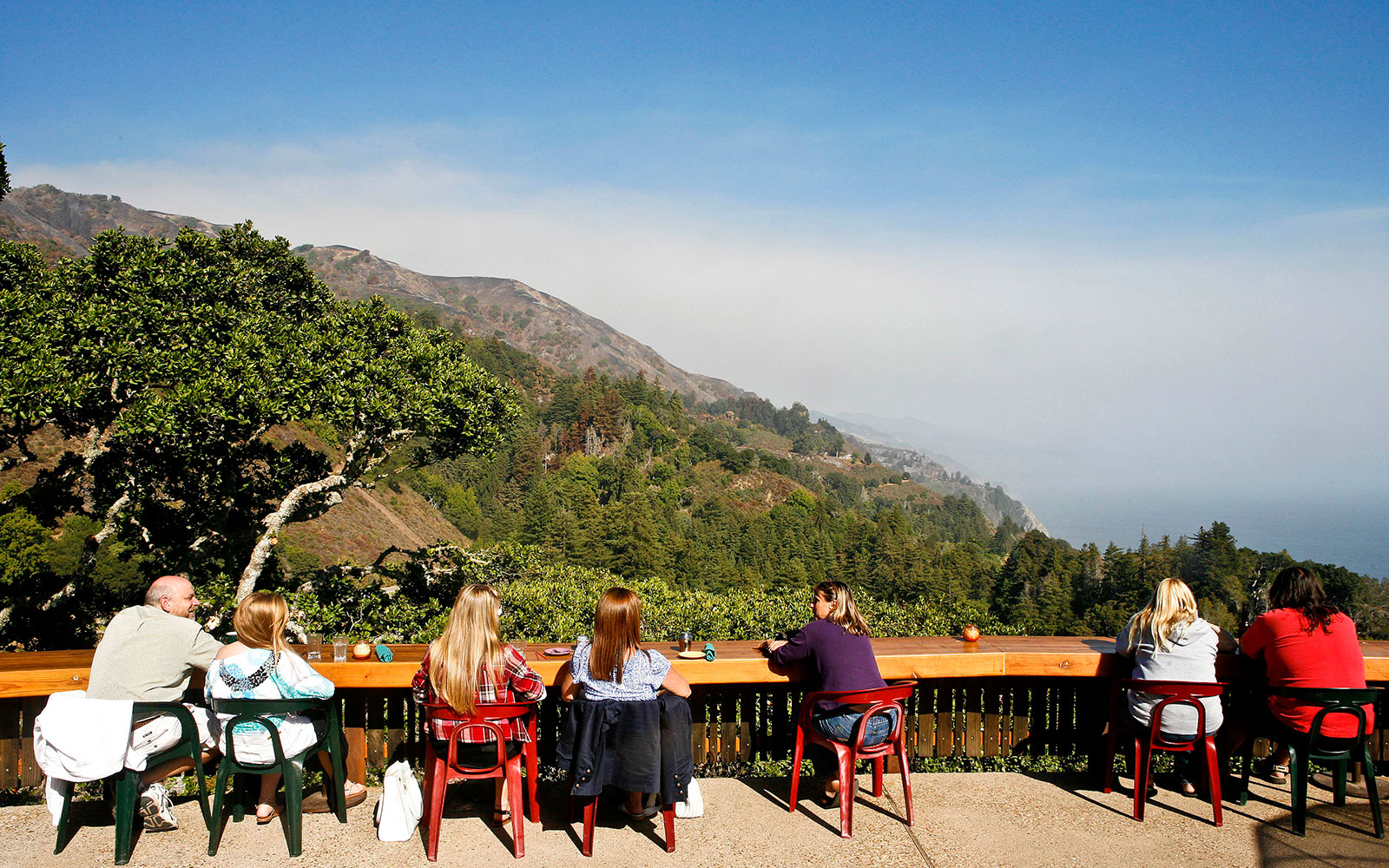 12:30 p.m.: Lunch at Nepenthe in Big Sur
