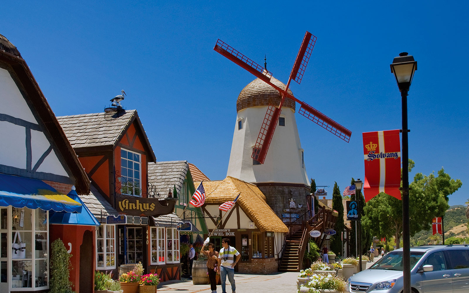 6:30 p.m.: Explore the Danish town of Solvang