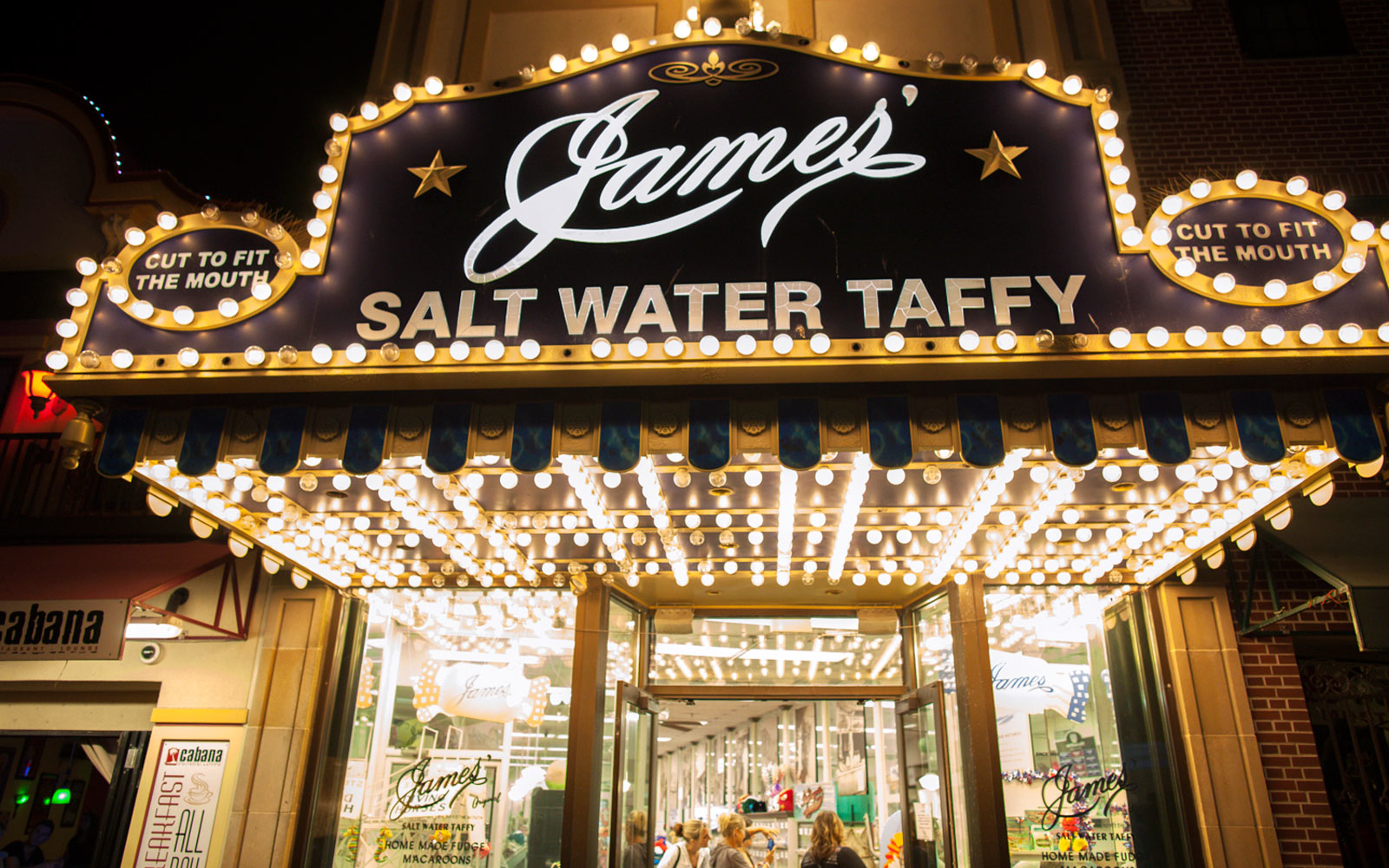 evening in atlantic city james' salt water taffy