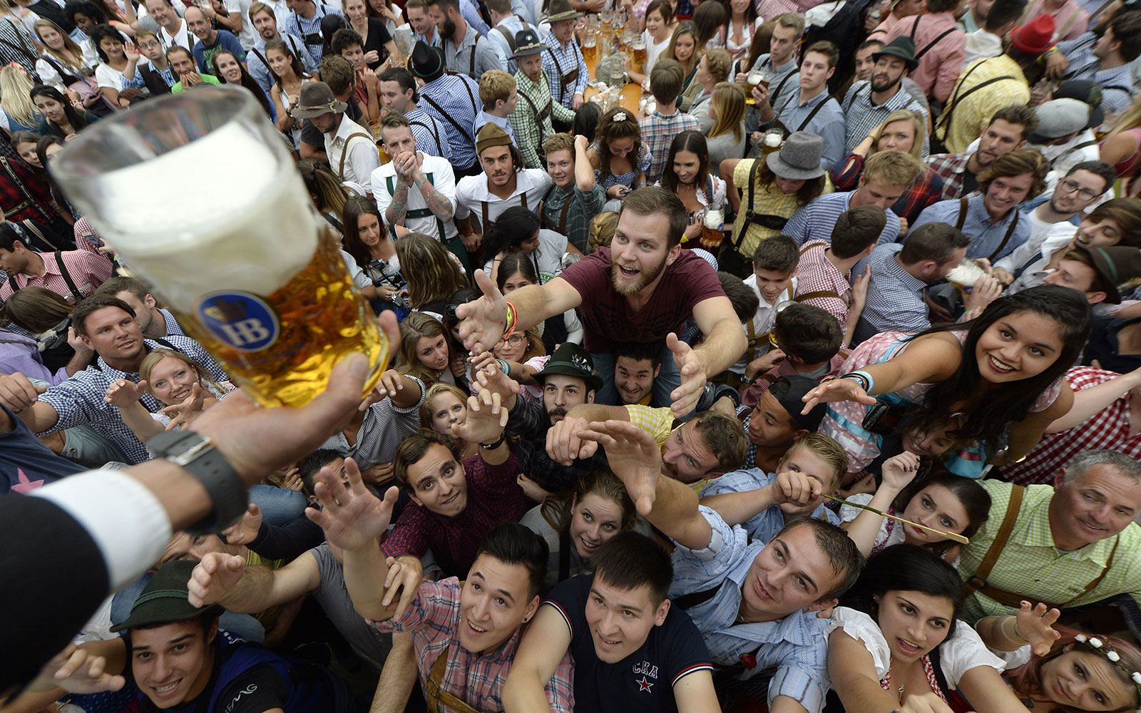 The Tapping of the Oktoberfest Keg