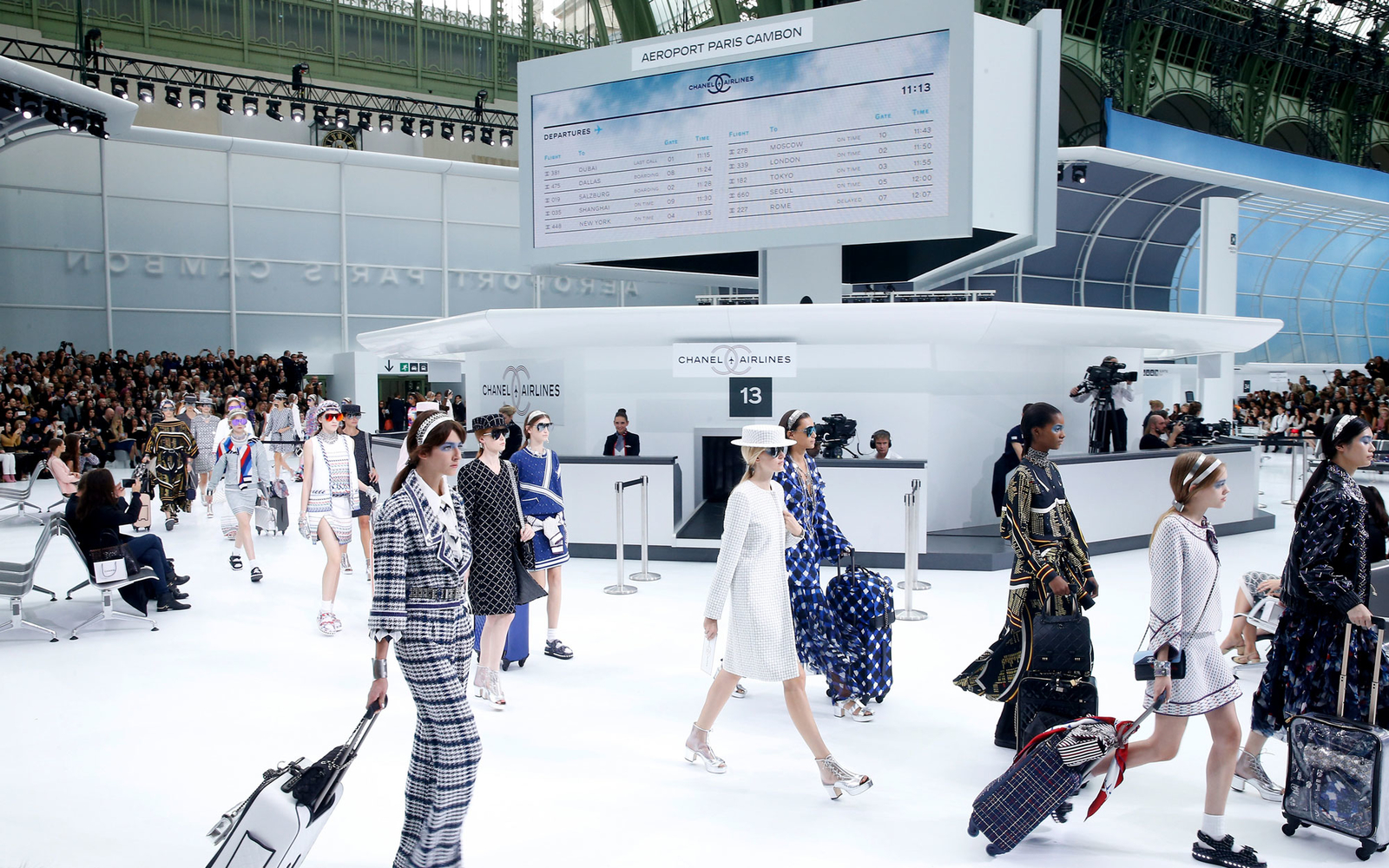 chanel airlines paris fashion week